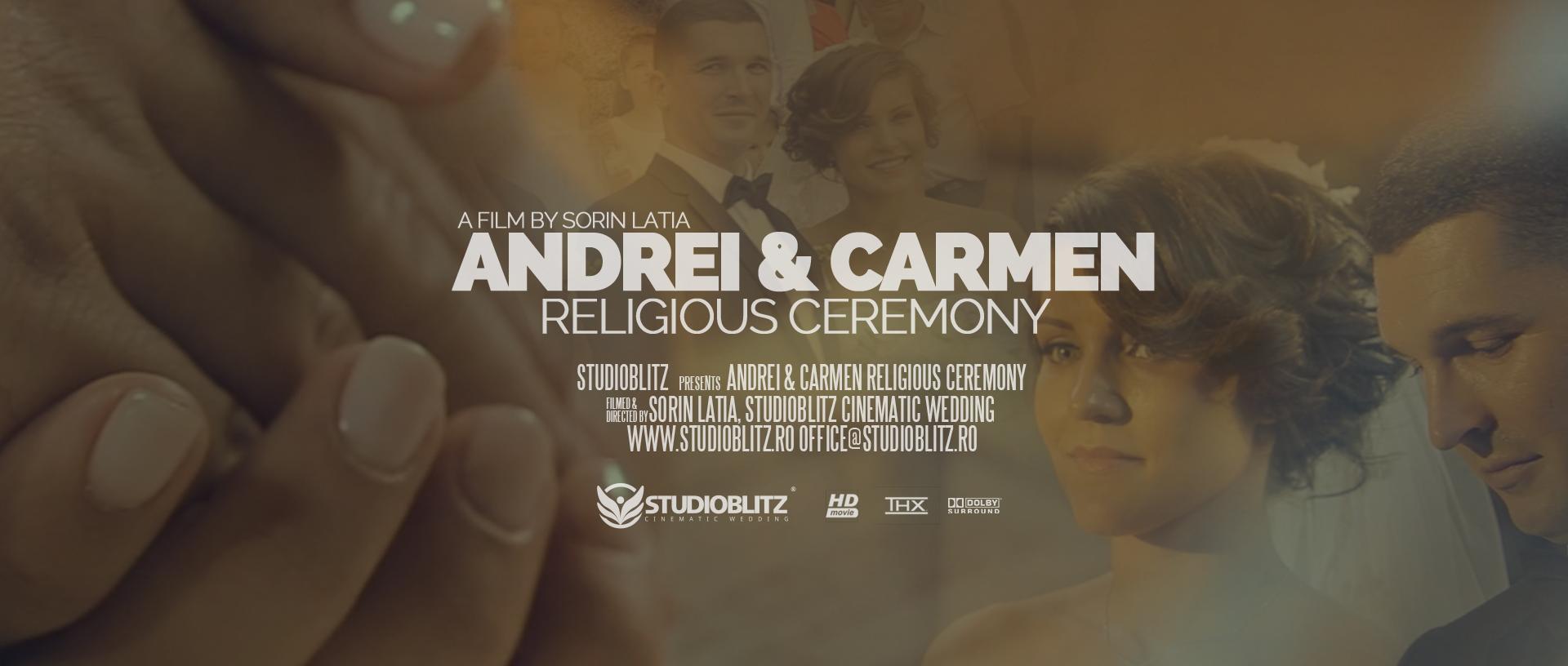 Coperta Filmari Nunti Targu Jiu Carmen Si Andrei Cununia Religioasa